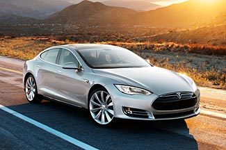 The stunning Tesla S has a best-case range of over 300 miles between battery charges.