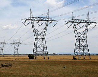 500kV power towers like these are unprotected and vulnerable to simple attack.