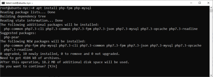 Install And Configure PHP Processor On DigitalOcean
