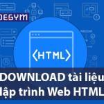 TẢI NGAY bộ tài liệu lập trình Web html cho người mới bắt đầu