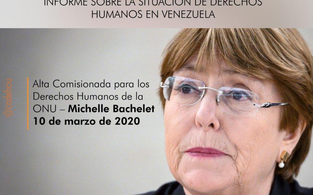 Bachelet: «Continúan los actos de violencia de fuerzas de seguridad y simpatizantes del Gobierno»