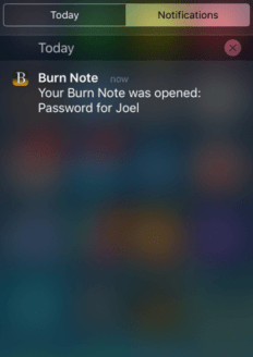 Secure your message from hackers using Burn Note