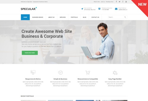 Specular Corporate WordPress Theme