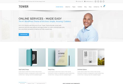 Tower Classic WordPress Theme