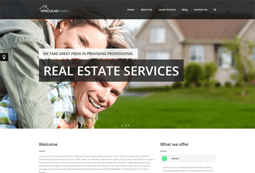Specular Estate WordPress Theme