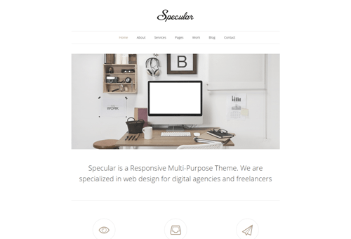 Specular Minimal WordPress Theme