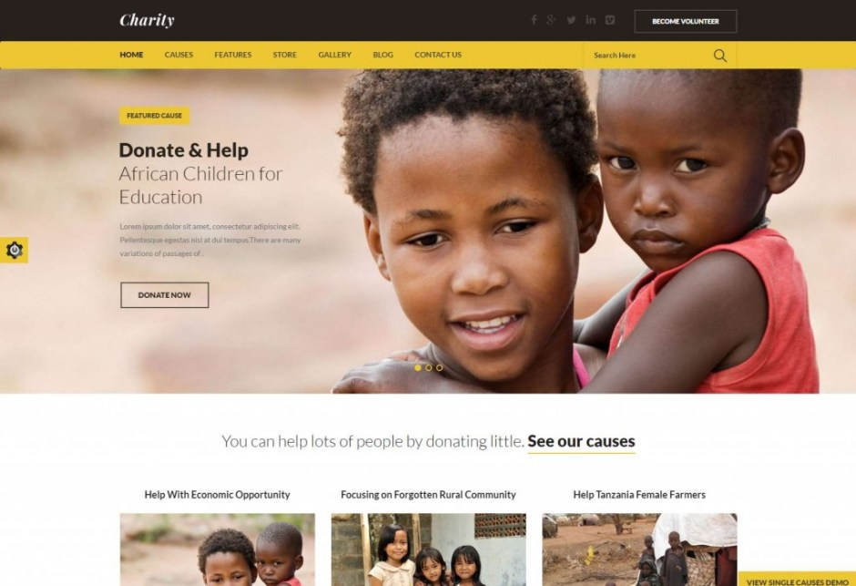 Charity Nonprofit NGO Fundraising WordPress ThemeCharity-compressed