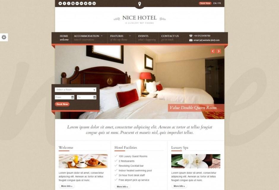 Nice Hotel A Luxury WP Theme