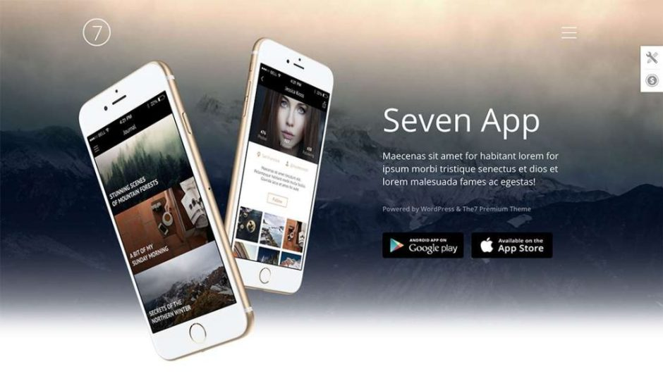 The7 App – perfect sollution for mobile app landing page-compressed