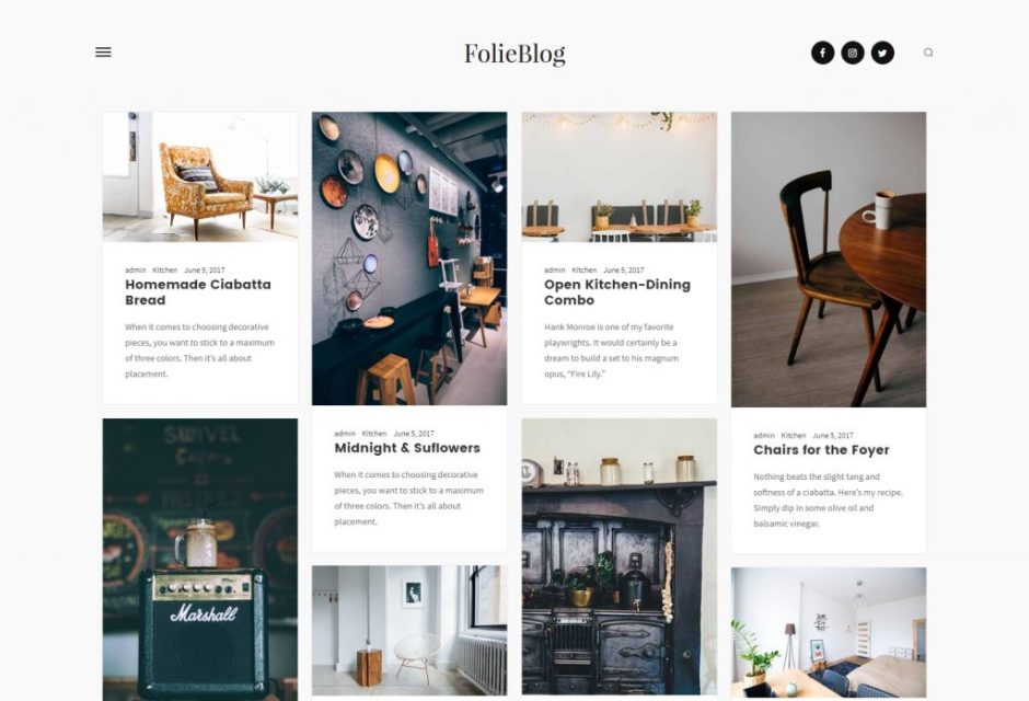 Folie – The Website Builder – Blog Simple Grid Template – Just another WordPress site-compressed