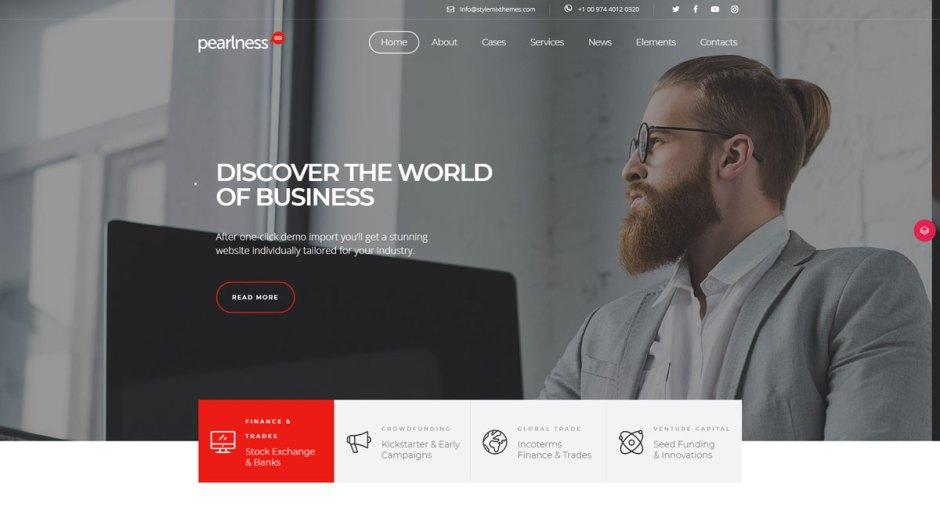 Pearl Corporate & Consulting WordPress theme
