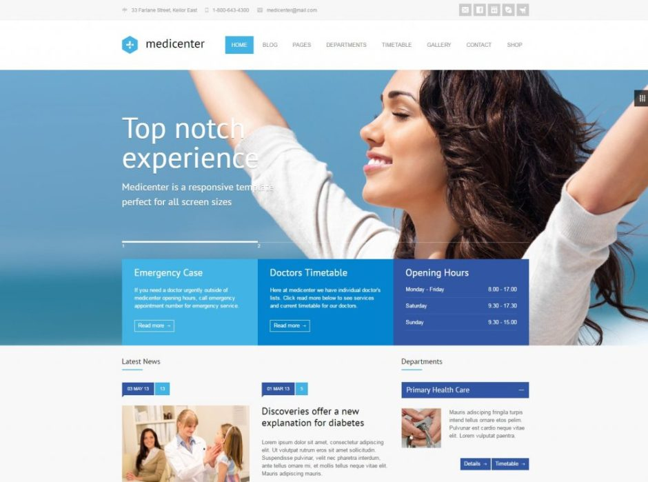 18+ Best Medical WordPress Themes for Clinics, Doctors, Dentists and ...