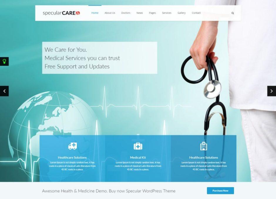 Specular WordPress Theme Health Medicine Themeforest Just another WordPress site-compressed