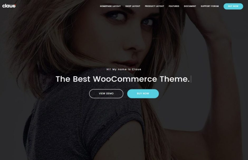 Claue The best woocommerce theme for online fashion store personal blog-compressed