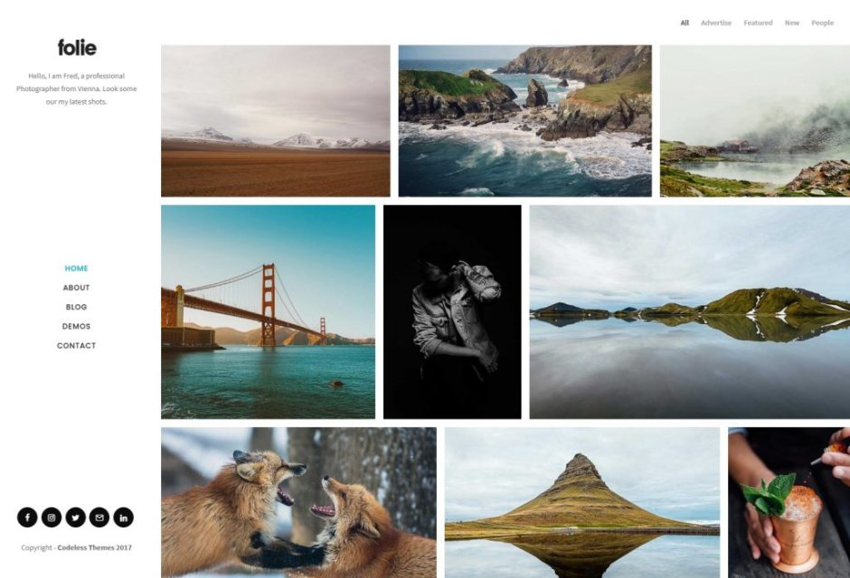 Folie – Photography Creative WP Template – Just another WordPress site-compressed