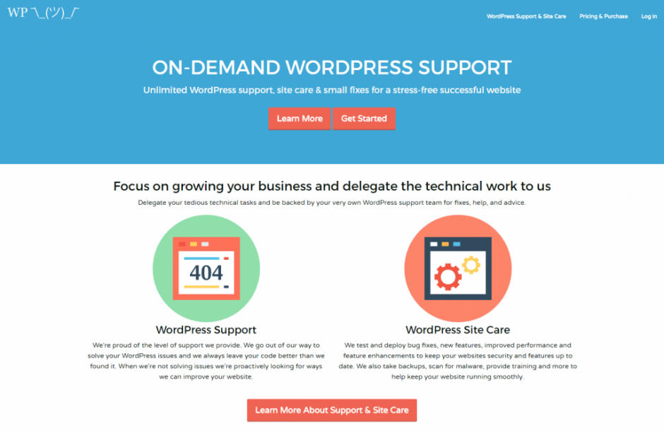 WordPress Support and Site Care from £49 by WP Shrug