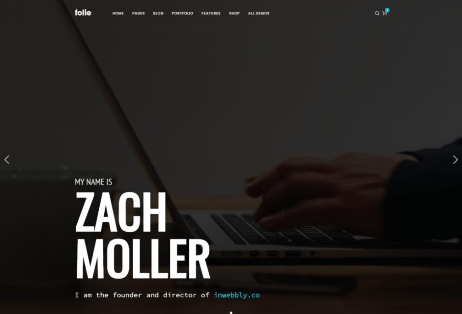 Portfolio Freelance – Folie – The Website Builder – Default Main