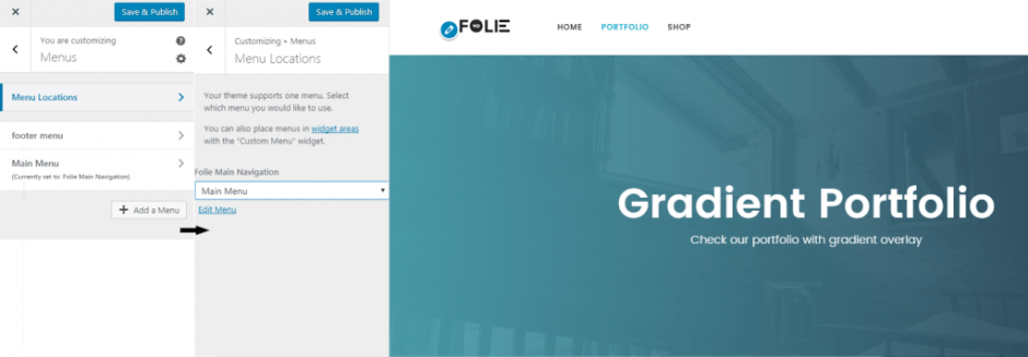 Customize Portfolio – Folie Wp Doc2