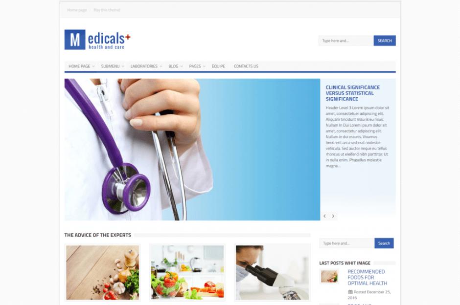 Medicals Theme – A premium healtcare theme
