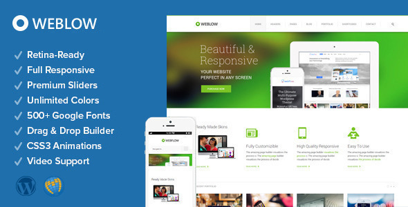 Weblow - Free Responsive Multi-Purpose WordPress Theme - Codeless