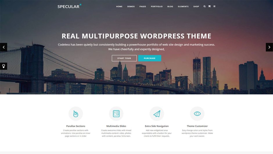 10+ Best Wordpress Themes with Slider and Sidebar - Codeless