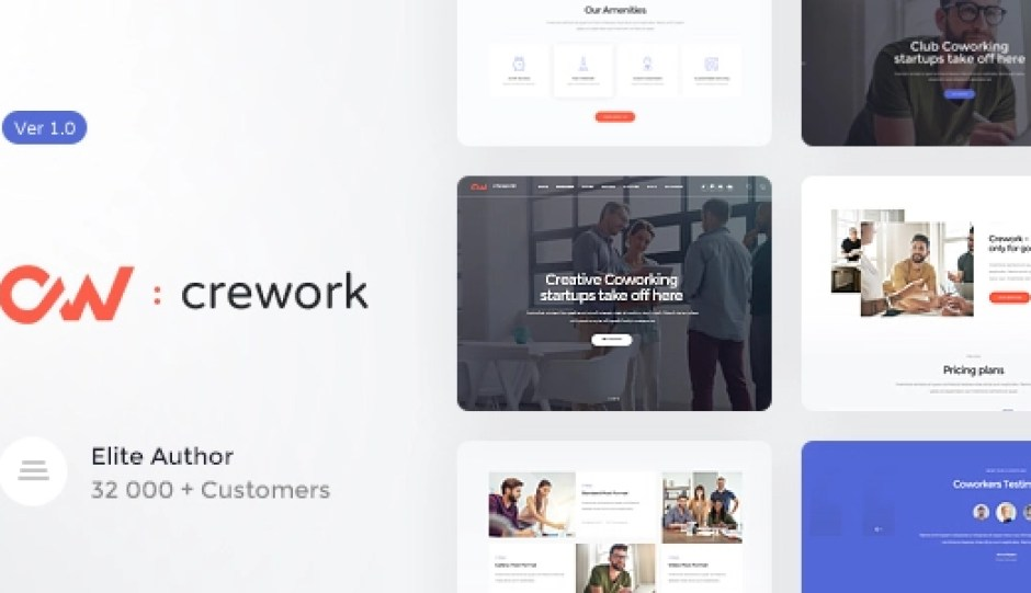 Crework - Coworking and Creative Space WordPress Theme
