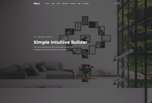 Folie Parallax WordPress Theme