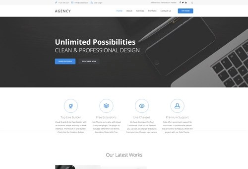 Folie Digital Business WordPress Theme
