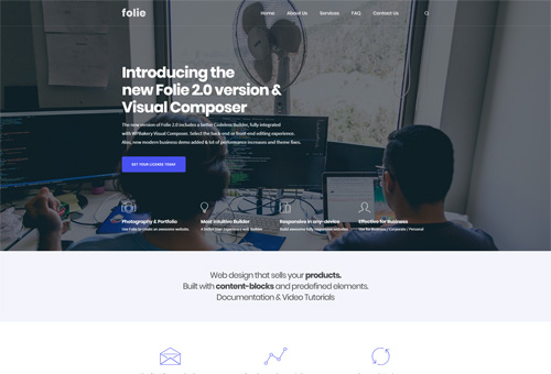 Folie New Business WordPress Theme