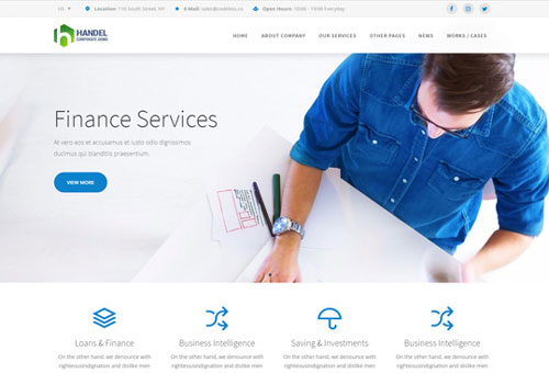 Handel Finance WordPress Theme