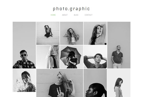 Folie Photography Masonry WordPress Theme