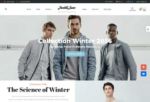 June Lookbook WordPress Theme
