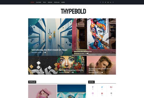 Thype Magazine Bold WordPress Theme