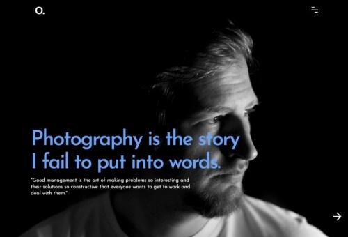 Onero Photography WordPress Theme