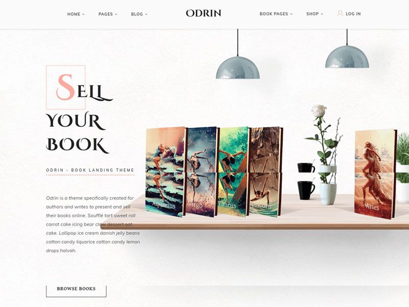 odrine wordpress book theme