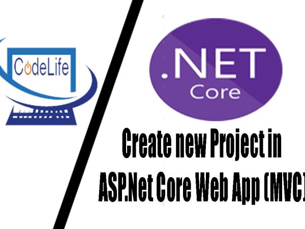Create Project in ASP.Net Core WebApp