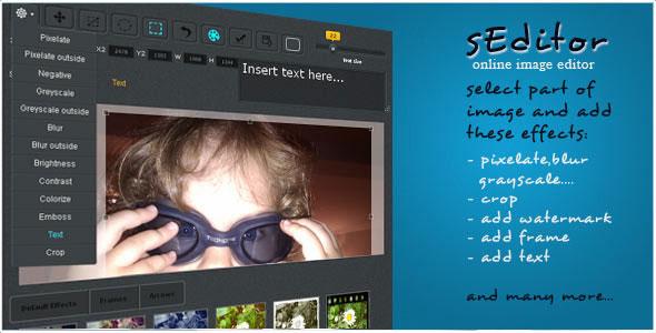 sEditor – online image editor