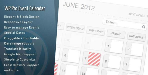 WordPress Pro Event Calendar v2.9.9