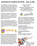 Codemakers Club 2016 Brochure