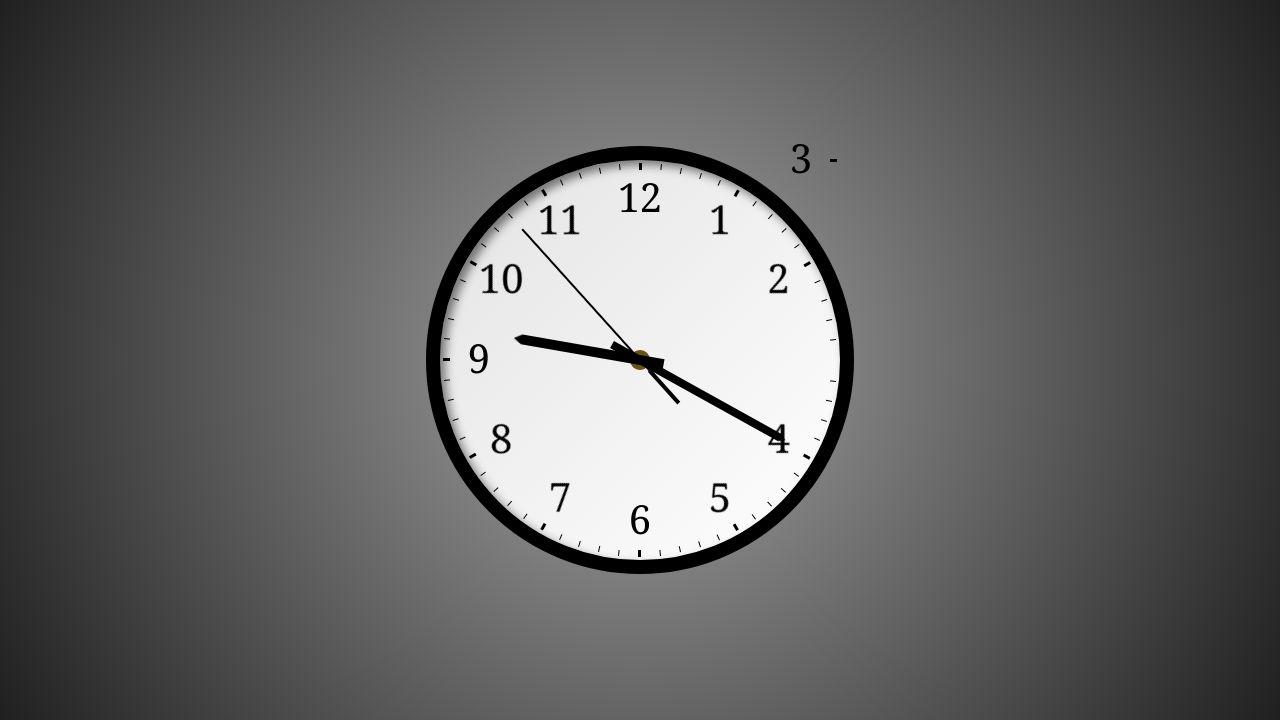 CodePen Analog Clock CSS3 SASS Real Time