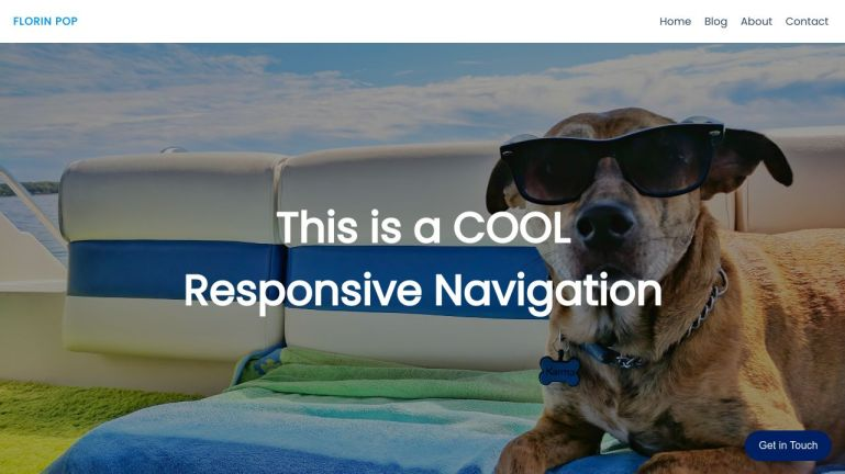 Responsive Navigation with Animations