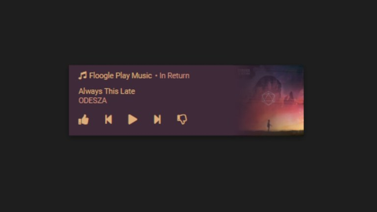 Android Music Notification
