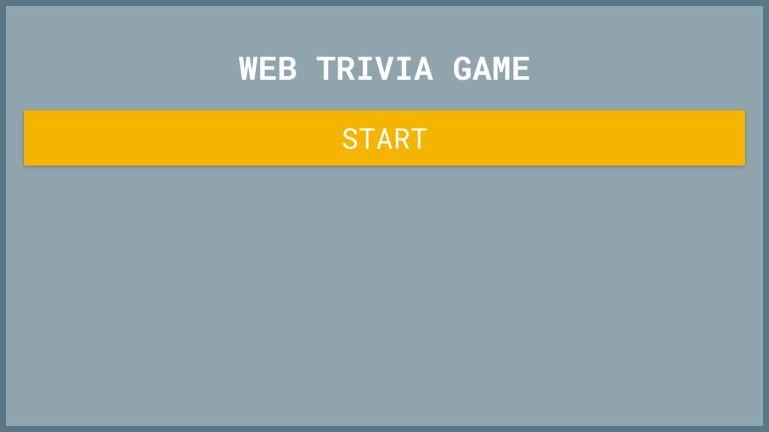 Web Trivia Game