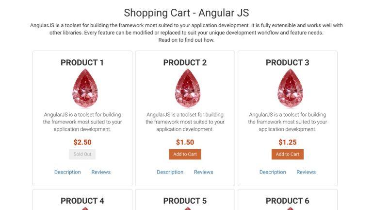 Shopping Cart - Angular JS