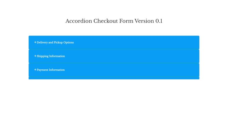 CSS Accordion Bootstrap Form