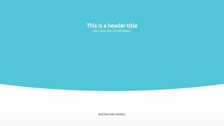Javascript CSS Curve SVG Header Background Animation