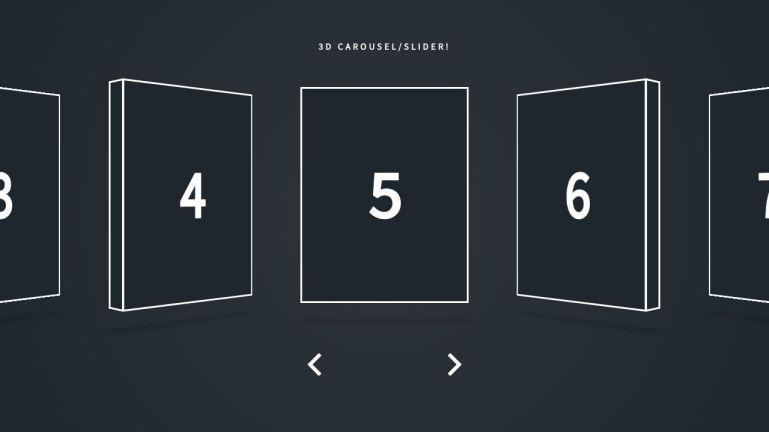 Javascript CSS 3D Carousel/Slider