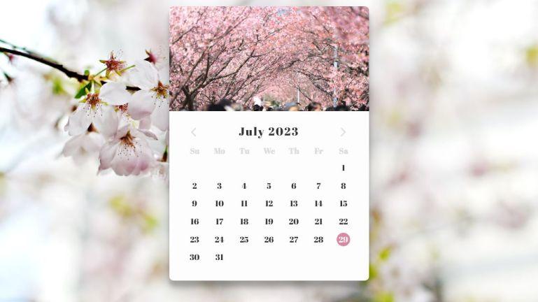 Calendar - Daily UI #038