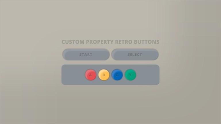 Custom Property Retro Buttons
