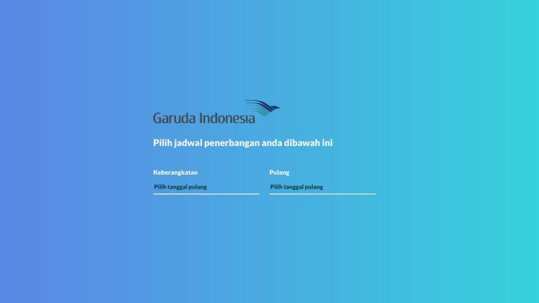 Date Picker Untuk Jadwal Penerbangan Travel Website